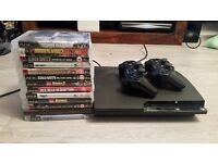 Ps3 Slim 120gb - 2 controllers - 12 games
