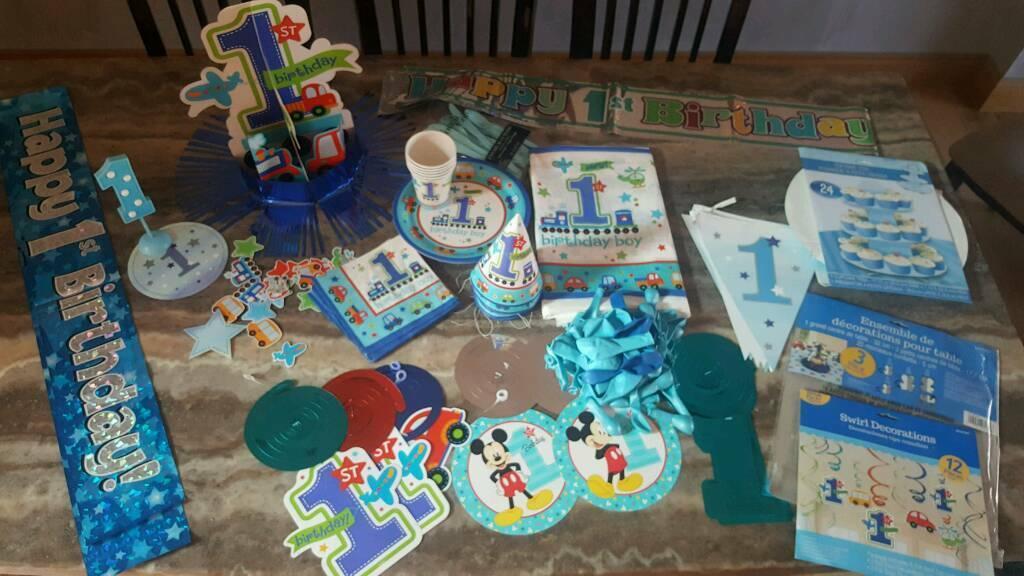 Baby Boy Birthday Decorations