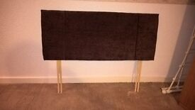 Brown Fabric Headboard for Small Double (4') Bed - Nearly New