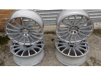 17inch alloy wheels multifit 4 stud et35 like new