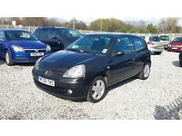 Renault CLIO 1149cc petrol, Hatchback, Manual, Black, 2006(06) Full mot,