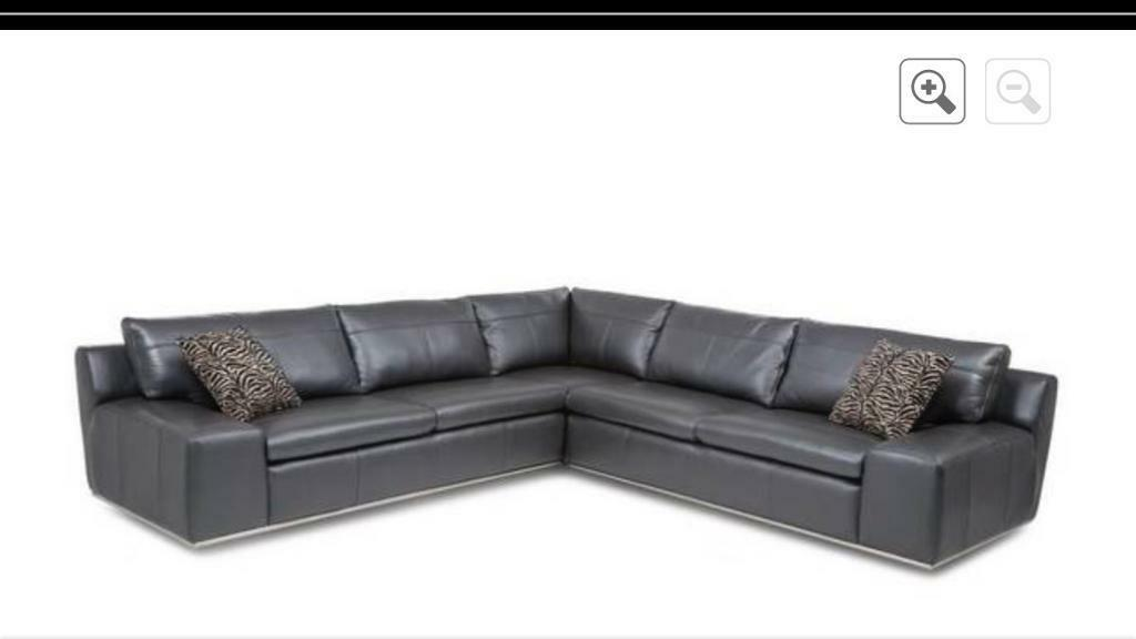 Dfs Iconica Black Leather Corner Group