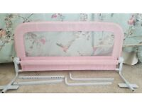 Pink toddlers bed guard