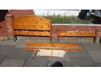 double bed wood carale colour very strong wood plus mattres GOOD CONDITION