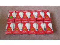 Brand New Mazda 60/100 Watt BC Pearl Light Bulbs Traditional Classic Shape Bayonet Cap