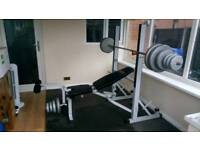 Weight bench and 66kg of weights