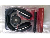 wireless headset, for use with pc,xbox one, xbox 360, ps3&4