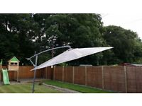 Garden Parasol 3M diameter, comes with slabs for base