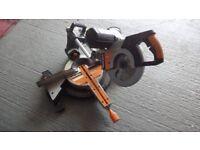 Evolution Rage3 DB 110 Volt Double bevel sliding compound mitre saw excellent condition