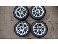 """16"""" Corsa D SXI Alloy Wheels, Set of 4 Including Tyres, 4x100, Genuine Vauxhall"""