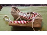 Canvas Wedge Sandals