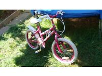Bike 16 Inch Girls pink
