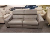 Elixir Leather 3 Seater Electric Recliner Sofa USB, From Furniture Village