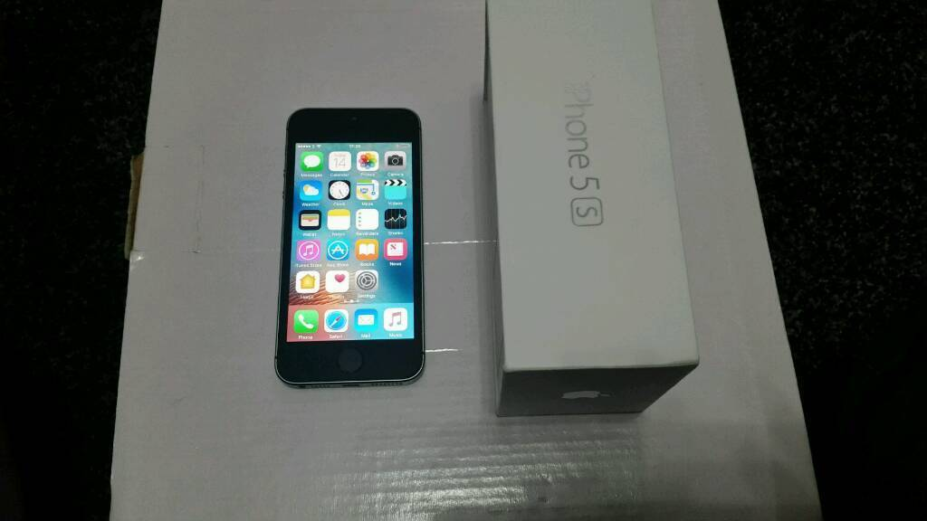 Iphone 5s unlocked boxed Excellent conditionin Sheffield, South YorkshireGumtree - Iphone 5s 16 gb unlocked space gray Mint condition please see picYou can use any network its unlocked All buttons WiFi Siri both cameras vibration mic fingerprint speaker loud speaker everything in working condition It comes with original box...