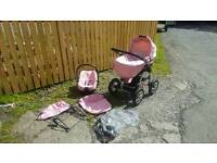 Bebetto murano 3 in 1 push chair/pram with car seat