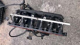 BMW M54B25 2.5 INTAKE INLET MANIFOLD WITH INJECTORS