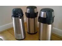 Pump-action Vacuum Flasks