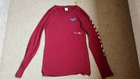 Hollister long sleeve t-shirt with tag