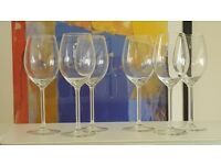 6x Large wine glasses