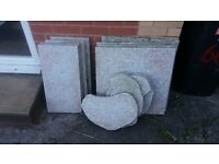 12 decorative paving garden slabs in 3 sizes and shapes