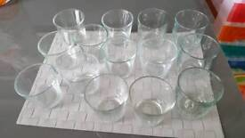 14 ex candle glasses
