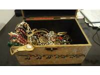 Assorted costume jewellery in lovely chest
