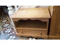 TV cabinet Solid waxed pine COLLECTION ONLY