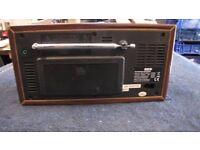 RED WOODEN 583 151 PORTABLE DAB / FM RADIO