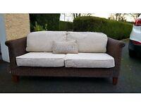 wicker conservatory sofa 3 + 1