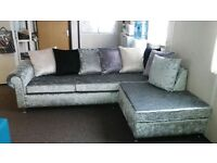 POZE L SHAPE CORNER SOFA IN BRAND NEW £375 HAND MADE WITH FOAM SEATING AND SPRING BASE