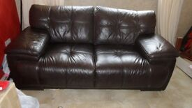 Lovely brown leather suite for sale 3 seater and 2 seater good condition £200