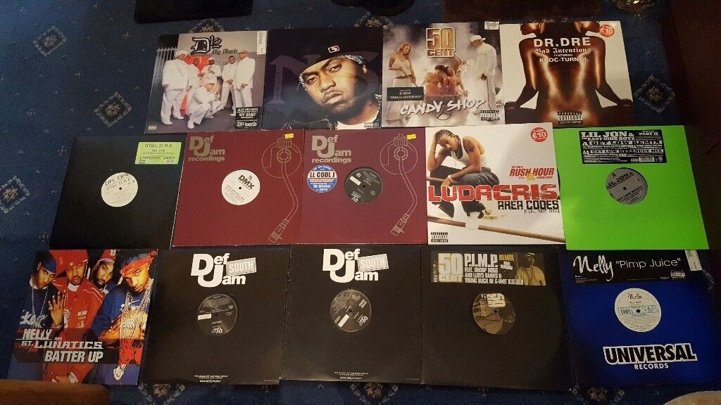 35 various vinyl - Hip hop records