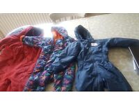 3 x all in one boys winter coats.(1.5 -2) (2-3) and 3-4 years.