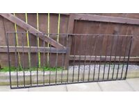 Wrought Iron Fencing with posts.