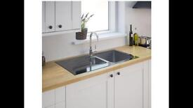 Cooke & Lewis glass sink brand new