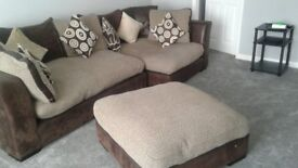 corner sofa in brown