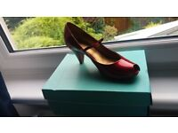 Clarks Red Patent shoe, size 4.5
