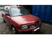 NISSAN MICRA 1.2 PETROL,MANUAL , YEAR 1998 IN GOOD CONDITI07913621856ON MOT JUST EXPIRED