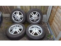 Set of 4 ford focus 4 stud alloy wheels