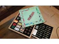 Hasbro - Monopoly and Cluedo - Wooden Cabinet - Games Compendium - out of production