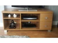 Tv stand oak effect