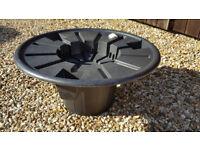 New and unused circular Pebble Pool kit with Heissner pump
