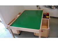 Kids play table with Storage boxes