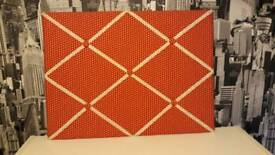 Red and White Polka Dot Pin Board