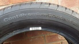 195 55 16 Continental Premium Contact 2 Tyre - Barley Used