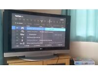 42 inch plasma HD flatscreen TV. Good condition and in working order. Complete with remote