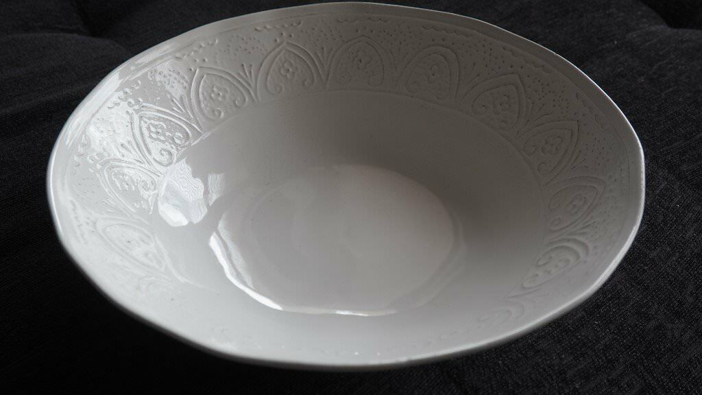 Large White Fruit Bowl