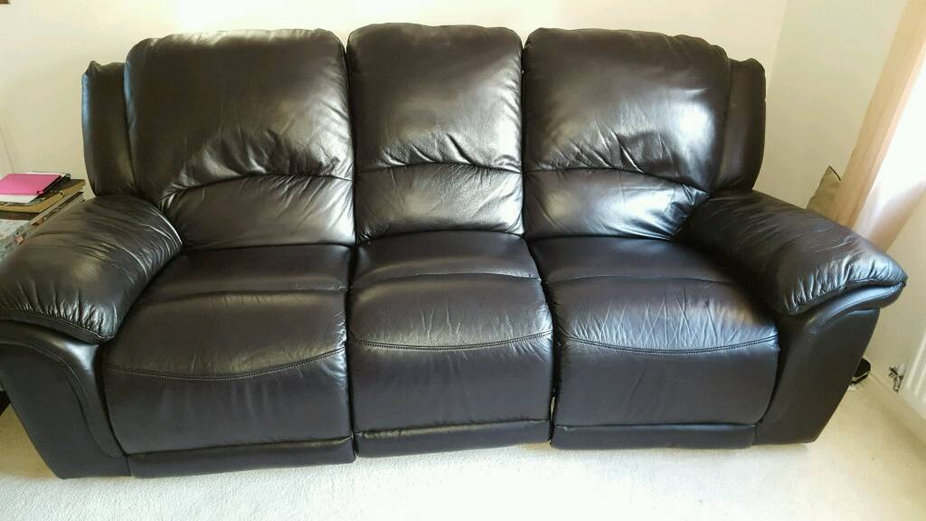 3x seater Leather Recliner Settee