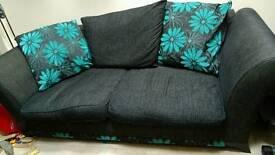 Sofa with matching large pouffe