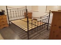 Metal double bed frame for sale